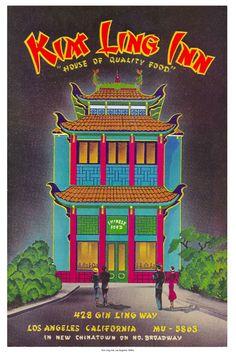 Kim Ling Inn Los Angeles 1940s / Image courtesy LAPL Menu Collection