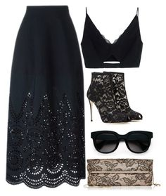 Black Lace by carolineas on Polyvore featuring polyvore, fashion, style, Versace, STELLA McCARTNEY, Dolce&Gabbana, Valentino, Balenciaga, women's clothing, women's fashion, women, female, woman, misses and juniors