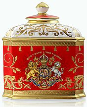 EIIR Coronation China Tea Caddy