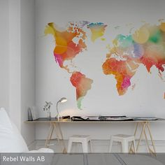 "Fototapete ""Rainbow World"" aus unserer Kollektion Maps"