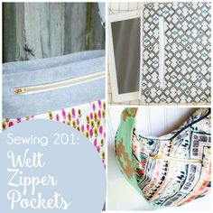 Sewing 201: How to sew a welt zipper pocket {great for a tote bag!} — SewCanShe | Free Daily Sewing Tutorials