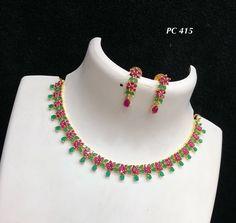 Indian Bridal Jewelry Sets, Wedding Jewelry Sets, Wedding Rings, Ruby Jewelry, Stone Jewelry, Gold Jewelry, Ruby Necklace Designs, Jewellery Designs, Saree Tassels