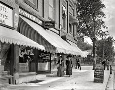 """Oyster Bay Cafe.""   Ann Arbor, Michigan, circa 1905.  love Ann Arbor but this IS before MY time."