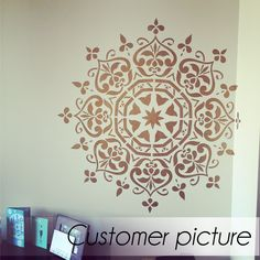 Mandala Style Stencil - Floral Motive Wall Stencil - Original And Unique Wall Stencil This easy-to-use reusable mandala floral stencil looks marvelous with any style of decor, whether classic, modern, or bohemian. With its geometric shape yet organic, ornate design, this pattern adds warmth to walls, furniture, fabrics, and more. Check out our border stencil that was made exclusively for this design…