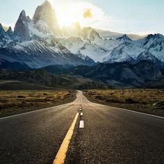 On the road in Argentina.