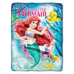 Licensed Character Little Mermaid Silky Touch Throw Blanket