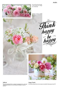 Think Happy Be Happy, Happy Day, Beautiful Love Pictures, Beautiful Flowers, Good Morning Images, Good Morning Quotes, Good Morning Sweetheart Quotes, Word Collage, Happy Friends