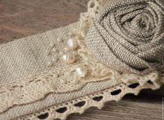 Nostalgie decor (Любовь) Текстильный браслет из льна в стиле бохо