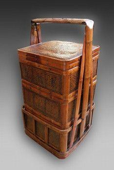 Asian bamboo baskets