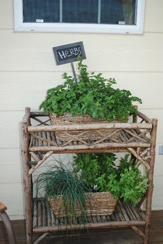 ~Irishman Acres~ Twig furniture, Herb Garden