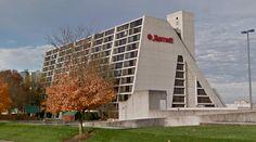Knoxville Hyatt Regency (now Knoxville Marriott) - 1969-72 - #architecture #googlestreetview #googlemaps #googlestreet #usa #knoxville #brutalism #modernism