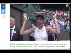 Garbine Muguruza Enjoys the Venus Rosewater Dish To The Fullest