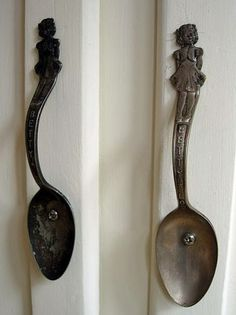 Old spoons for door handles!