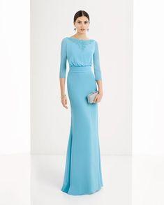 Vestido de georgette y pedreria disponible en, rojo, agua, plata, marino, azul y cobalto.