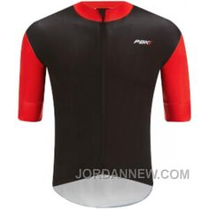 PBK Stelvio Water Repellent Short Sleeve Jersey - Red Free Shipping