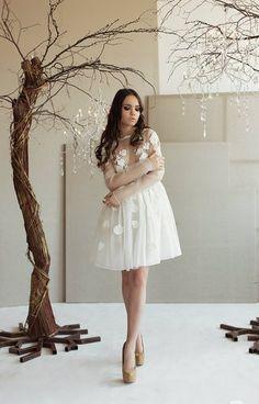 #whitedresses #dresses #shortdresses #weddingdresses #wedding #weddingshortdresses #floralwhitedresses #white