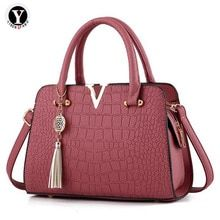 c411b985d0799 Yirenfang Women Bag Tassel Leather Crocodile Pattern Women Messenger  Shoulder Bags Luxury Handbags Women Bags Designer. Umhängetaschen  DamenFrauen ...