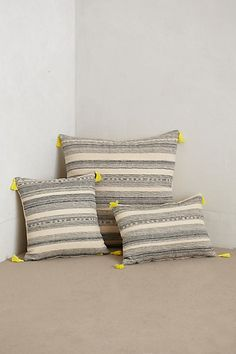 Striped Linen Pillow - anthropologie.com