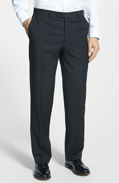 Pal Zileri 'Zignone' Flat Front Trousers available at #Nordstrom