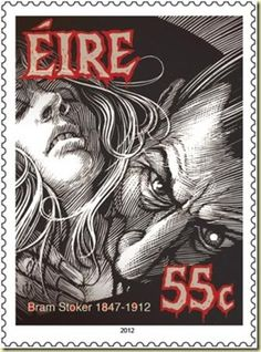 Centenary .55¢ stamp commemorating the death of Bram Stoker (born in Dublin)…
