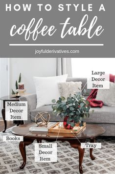 Coffee Table Styling How to Decorate your Coffee Table like a Designer / Simple ideas for decorating a coffee table with cheap or affordable decor in a way that looks stylish and pretty. - Coffee Table - Ideas of Coffee Table Coffee Table Styling, Diy Coffee Table, Decorating Coffee Tables, Coffee Table Design, How To Style Coffee Table, Coffee Table Decorations, What To Put On A Coffee Table, Coffee Coffee, How To Decorate Coffee Table