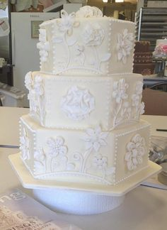 Pale Floral Beauty Wedding Cake