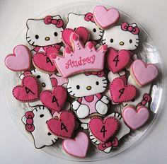 Hello Kitty Birthday Cookies. Facebook: Sugar Sanctuary | Flickr