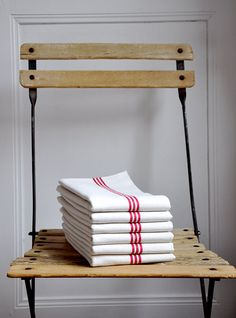 Vintage French linen towels