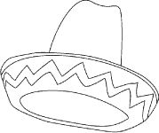 Sombrero Mexican Hat Coloring Page