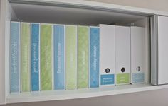 Geneology-Organize each family's information into colored binders