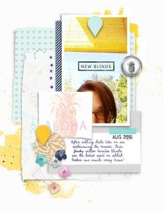 """""""blinds"""" digital scrapbook layout by paddy wolf- made with marisa lerin """"summer day"""" kit available at pixelscrapper.com"""