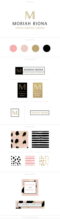 Graphic Design and Branding for Photographers and Creative Brands || Moriah Riona || New Logo and Brand Identity Collection reveal #graphicdesign #logo #photographer #branding #design