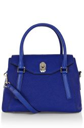Karen Millen Textured Snake Leather Box Bag
