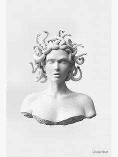 Medusa Art, Medusa Tattoo, Eyes Looking Down, Ancient Greek Sculpture, Punk Poster, Acid Art, Snake Art, Tattoo Portfolio, Thing 1