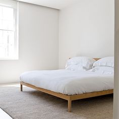 wood bed minimalist - Buscar con Google