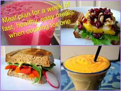 Week Meal Plan - Sweet Spatulas,  Single Girl's Easy Meal Plan for a Week, with Grocery List