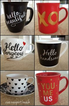 I love these fun coffee mugs and cups. Just about everyone enjoys a cup of coffee or tea throughout the day, so why not treat them to a cute mug on Valentine's day?