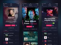 Online Music Streaming Service - iOS by Mateusz Piatek
