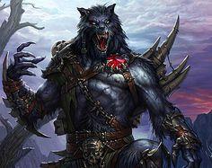 Werewolf Warrior | Werewolf, Warrior, Fantasy, Wolf, F antasy Monster A3 Print Poster ...