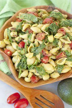 Avocado BLT Pasta Salad recipe is the popular combination of bacon, lettuce