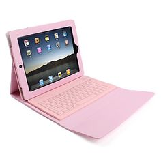 Leather Case Cover with Wireless Bluetooth Keyboard for iPad