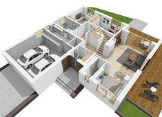 Projekt domu Astrid II G2 (mała) energo 99,44 m² - koszt budowy - EXTRADOM Design Case, Malaga, Shoe Rack, Home, House, Shoe Closet, Ad Home, Homes, Haus