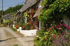 Cottages at Porthoustock, Cornwall English Country Cottages, English Countryside, Places Around The World, Around The Worlds, Tudor Architecture, Devon And Cornwall, Unusual Homes, Cottage Gardens, Grand Tour