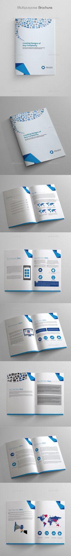Multipurpose Brochure Template #design  Download: http://graphicriver.net/item/multipurpose-brochure/12324025?ref=ksioks