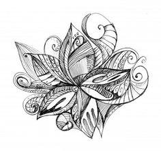 Zentangle flower.