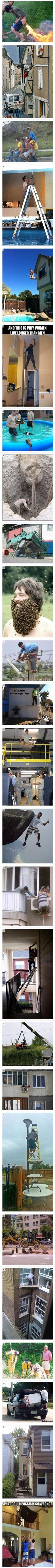 Why women live longer // funny pictures - funny photos - funny images - funny pics - funny quotes - Funny Images, Funny Photos, Funny Jokes, Hilarious, Stupid People, Live Long, Funny Pins, Man Humor, Funny Cute