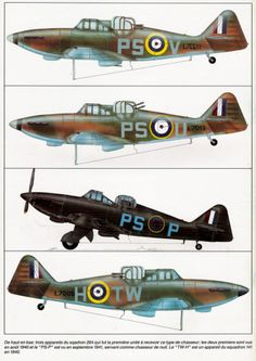 Profils aviation - Camouflage : Décals et documentation avions d'occasion Ww2 Aircraft, Military Aircraft, Air Fighter, Fighter Jets, Aircraft Painting, Ww2 Planes, Battle Of Britain, Royal Air Force, Aviation Art