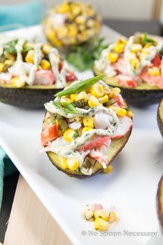 6 Delicious & Healthy Stuffed Avocado Recipes -Tex-Mex King Crab Stuffed Avocados