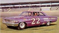 1964 Ford Galaxie  Driver: Fireball Roberts Died in car crash at track