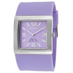 Invicta Women's Couture Special Ed. Lavender Polyurethane & Dial ($55) ❤ liked on Polyvore